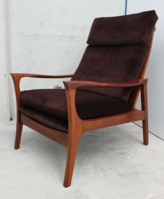 Harris, a classic Don Conchord, designed and built in NZ in the has been reupholstered in a plush vintage fabric in a deep purple and burgundy stripe.Fabric has soil and spill repellant . Deep Purple, Accent Chairs, Armchair, Burgundy, Plush, 1960s, Fabric, Furniture, Vintage
