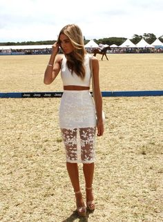 Nadia Coppolino wearing Misha Collection at the Portsea Polo  www.mishacollection.com.au