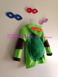 Teenage Mutant Ninja Turtles inspired fleece hoodie shirt Halloween costume (child sizes) on Etsy, $130.00