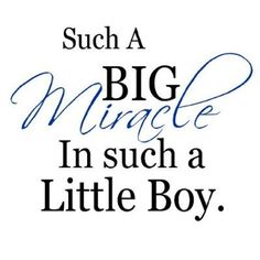 Amazon.com - Such A Big Miracle In Such A little Boy....Nursery Wall Quotes Words Sayings ...