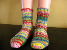 I adore knitting socks, especially 2 at a time and toe-up. My kids love them and I can't make them fast enough! My answer is Kroy sock yarn. I personally find it to be thicker than fingering weight, more like a sport weight yarn. Using 3 mm needles, I can whip off socks for my appreciative kids (and even me) in no time flat. Add to that fact that Kroy is virtually indestructible, is inexpensive, and comes in some really great colourways that can appeal to kids and the young at heart. It's a…