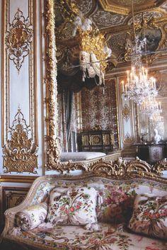 Marie-Antoinette's Bedchamber, Versailles, France.