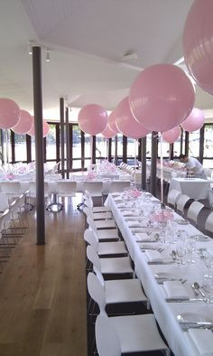 Christening balloons in Centennial Park . perfect for a baby shower or a bachelorette love it pink party Girl Christening Decorations, Christening Balloons, Baptism Party Decorations, Baby Girl Christening, Baby Shower Decorations, Ideas Bautizo, Baby Dedication, Wedding Balloons, Pink Balloons