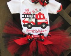 My Daddy Is A Firefighter Tutu Outfit by TutuLulus on Etsy My Baby Girl, Our Baby, Tutu Outfits, Girl Outfits, Cute Kids, Cute Babies, Firefighter Love, Firefighter Baby Showers, Firefighter Decals
