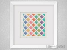 WATERCOLOR DIAMONDS counted cross stitch pattern by PineconeMcGee