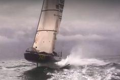 Mini SEAir à foils : Première vidéo du voilier en vol
