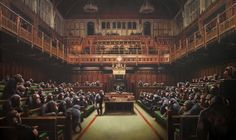 """Monkey Parliament"" by Banksy - Imgur"