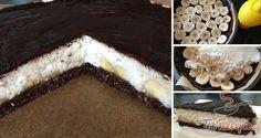Fitness kokosovy dort s banany Diabetic Recipes, Raw Food Recipes, Baking Recipes, Healthy Recipes, Czech Recipes, Ethnic Recipes, Low Carb Sweets, Sweet Breakfast, Healthy Baking