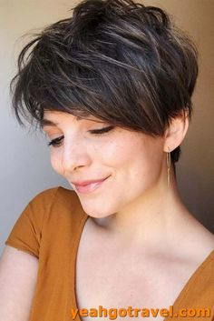 27 Easy Tips For Short Curly Pixie Ideas & Designs - Easy Hairstyles Short Grey Haircuts, Curly Pixie Haircuts, Long Face Haircuts, Stylish Short Haircuts, Popular Short Hairstyles, Bob Hairstyles For Fine Hair, Easy Hairstyles, Hairstyle Men, Formal Hairstyles