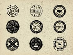 Vintage Union Inspired Seals - Fossil  by Jonathan Schubert