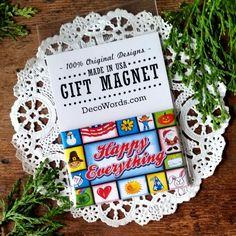 "DecoWords Fridge Magnet MASSAGE THERAPIST Occupation Gift Hvy Duty 2/""x3/"" New USA"