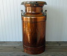 Copper Creamery Dairy Milk Can  Farmhouse Chic  by RedouxChic, $286.00I could do this with my old milk can!!
