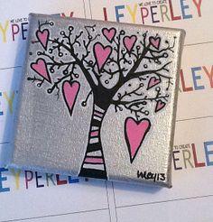 Tree of Hearts van LEYPERLEY op Etsy, €22.50