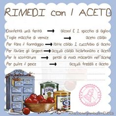 RIMEDI CON ACETO Cooking Tips, Cooking Recipes, Spa Furniture, Vegetarian Recipes, Healthy Recipes, Desperate Housewives, Diy Spa, Natural Cleaning Products, Natural Medicine