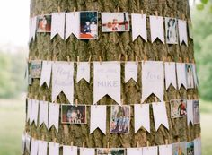 guestbook wrapped around a tree -   Inspired by This Crisp & Clean White Wedding by Kate Harlan, A Simply Chic Event - via inspiredbythis