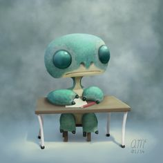 Hugo - Desk by AndrewMcIntoshArt on DeviantArt