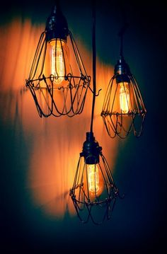 Finally found a use for my ugly 70's whore lamp...and it's industrial punkish. I'm in loooove.