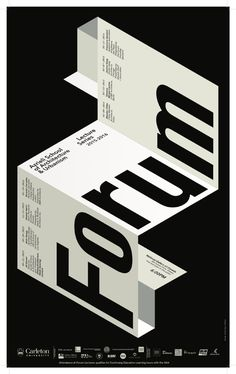 """Forum"" lecture series. Poster courtesy of Azrieli School of Architecture &…"