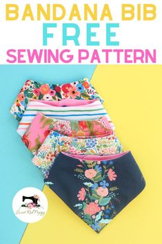 New No Cost easy Sewing gifts Popular Learn how to make an absorbent, stylish baby bandana bib in less than 10 minutes with this easy be Baby Sewing Projects, Sewing Projects For Beginners, Sewing Hacks, Sewing Tips, Baby Sewing Tutorials, Sewing Crafts, Sewing For Kids, Sewing Patterns Free, Free Sewing