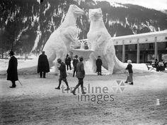 Schneeskulpturen ullstein bild - ullstein bild/Timeline Images #1900er #1900s #1900 #Schnee #Skulpturen #Winter