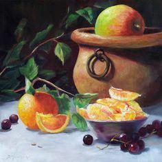 Donna Munsch Fine Art: Original Oil Painting Orange Slices