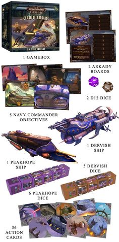 An asymmetric steampunk board game between swashbuckling sky pirates and mighty naval zeppelins in the Skies of Arkady!