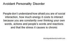 Social Interaction - Avoidant Personality Disorder (AvPD)
