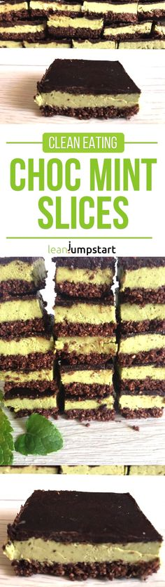 choc mint slices; the perfect clean eating treat for emotional eaters via @leanjumpstart
