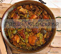 Paella Valenciana o Receipe For Paella #paella #valenciana la autentica no acepteis imitaciones !! #milicocinillas (esta receta tiene video te invito a verlo)