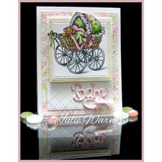Serendipity Stamps Baby Carriage Stamp and Baby Die make a beautiful Baby Card!