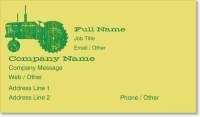 farm tractor green tractor Standard Business Cards