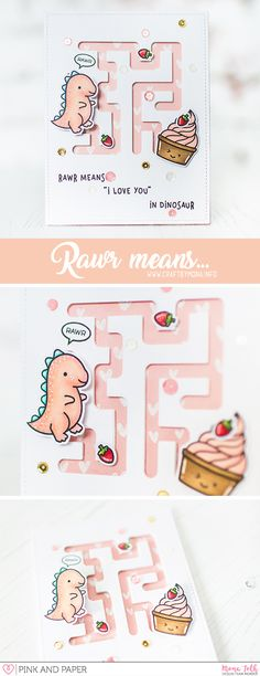 I made two cards with Lawn Fawn products and Neat and Tangled die. My new big favorite is the maze die. :) | Pink and Papers shop