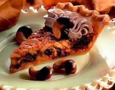 Cashew Pie | Chocolate Cashew Pie