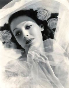 """The beautiful and great actress Loretta Young. """"Love her hat"""""""