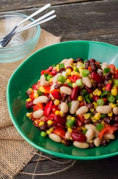 Three Bean Salad from www.sprinkledsideup.com