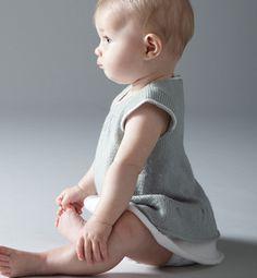 Modèle robe bébé en jersey - Modèles tricot layette - Phildar