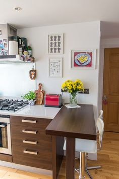 My kitchen - breakfast bar table in wenge colour