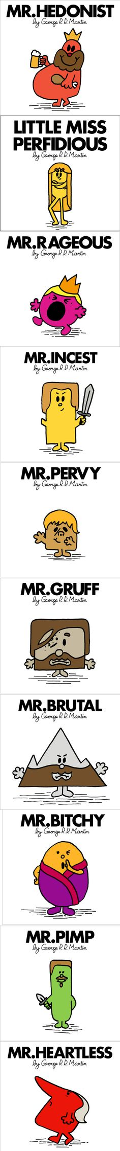 new style 0f04a feb23 Mr. Men and Little Miss Game of Thrones Game Of Thrones Puns, Mr Men