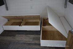 Ana White   Lift Top Storage Sofa Sectional Seating Bases - DIY Projects