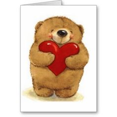 Teddy Bear Valentine's Greeting Card For Your Loved Ones. Unique Valentines Day Gifts, Bear Valentines, Valentine Greeting Cards, Valentine's Day Greeting Cards, Bisous Gif, Animal Movement, Animated Heart, Teddy Bear Pictures, Cute Teddy Bears