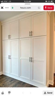 Home Room Design, Home Decor Kitchen, Floor To Ceiling Cabinets, Home, Bedroom Closet Design, Cabinet Door Styles, Bedroom Built In Wardrobe, Closet Design, Built In Cabinets