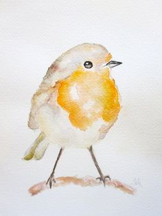 Fina lámina de arte acuarela arte de Robin