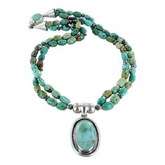 "CARICO LAKE TURQUOISE Necklace 2 Strand long 21"" from New World Gems"