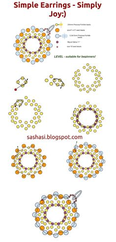 One of my free tutorials - Earrings JOY with Preciosa Farfalle Beads - by SashaSi