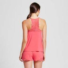 Women's Pajama Lace Trim Cami & Short Set Total Comfort - Gilligan & O'Malley™ - Fifties Pink : Target