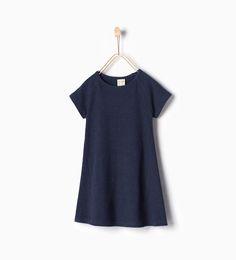 リブ襟ドレス-今週の新商品-ガール (4 - 14歳)-NEW COLLECTION | ZARA 日本
