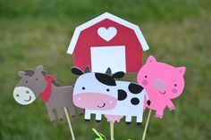 Farm centerpiece for Birthday party