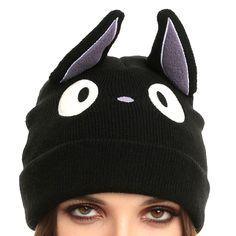 5e3699c2e96 Kiki s Delivery Service Black Kitty Cat Jiji Miyazaki Ghibli Themed Knit  Beanie