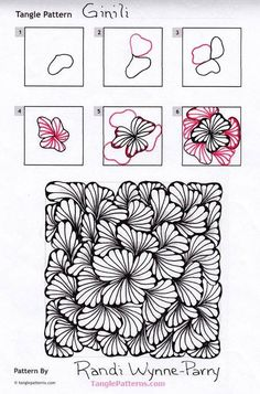 Resultado de imagen de zentangle patterns for beginners step by step