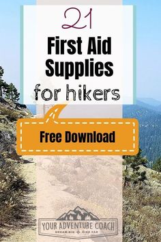Grab the complete First Aid Kit Checklist for hikers and backpackers for free before you go out on your next hiking trip! This is a great tool to help you assemble your own hiking first aid kit or customize one you already purchased. #hiking #backpacking #firstaid #hikinggear Adventure Time, Adventure Travel, Hiking First Aid Kit, First Aid Kit Checklist, Backpacking Gear List, Rv Mods, Hiking Essentials, Hiking Tips, Hiking Food
